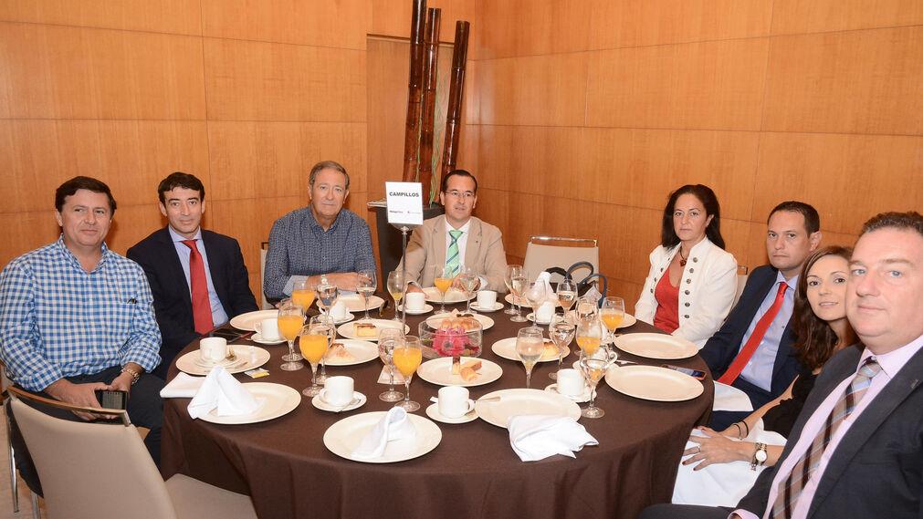 Juan Carlos González, Antonio Ponces, Juan Ventura, Jesús Cabello, Trinidad González, José Antonio Gómez, Vanesa Palanca y Jesús Burgos.