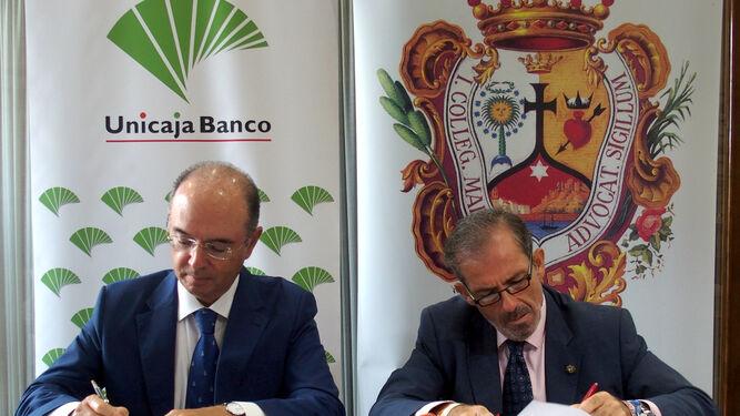 Unicaja banco renueva su compromiso con el colegio de for Manuel alba