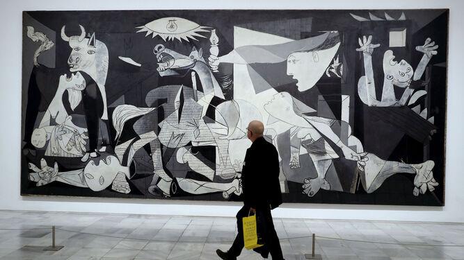 El 'Guernica' de Picasso, expuesto en el Museo Reina Sofía de Madrid.