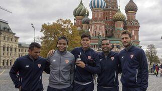 El Sevilla, de paseo por Moscú