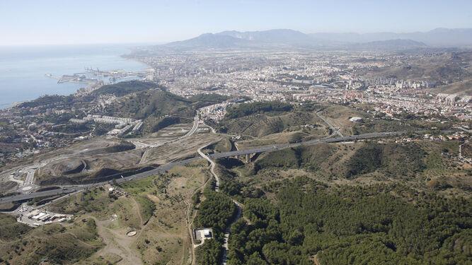 Vista de la ronda este de Málaga.