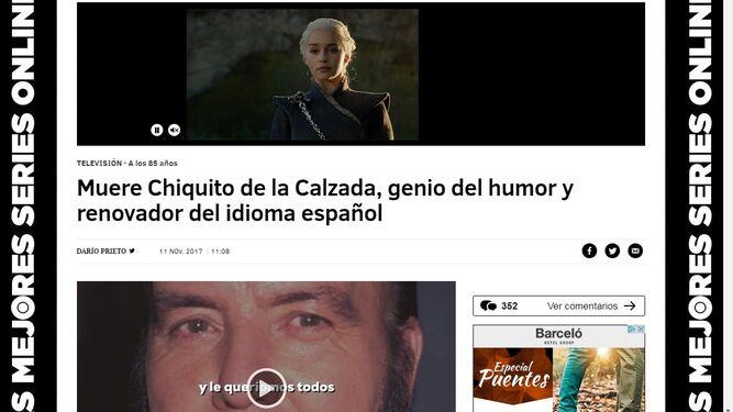 """Un aplauso enorme y unánime para el """"gran"""" Chiquito de la Calzada"""