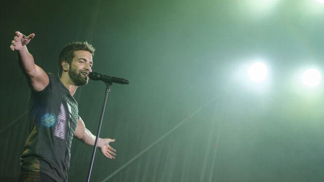 Pablo Alborán, en un concierto de la gira de presentación de 'Terral', su anterior disco.