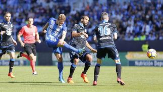 Las imágenes del Málaga-Deportivo