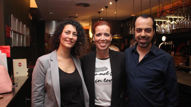 Laura Escobar, Arantxa López y Adrián López.