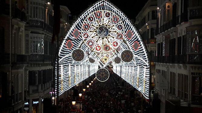 La iluminación de la calle Larios.