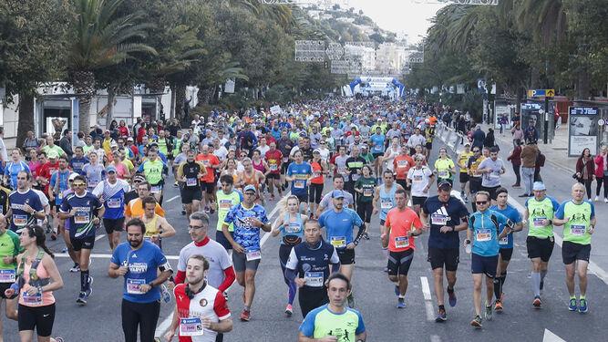 Las imágenes de la maratón en Málaga