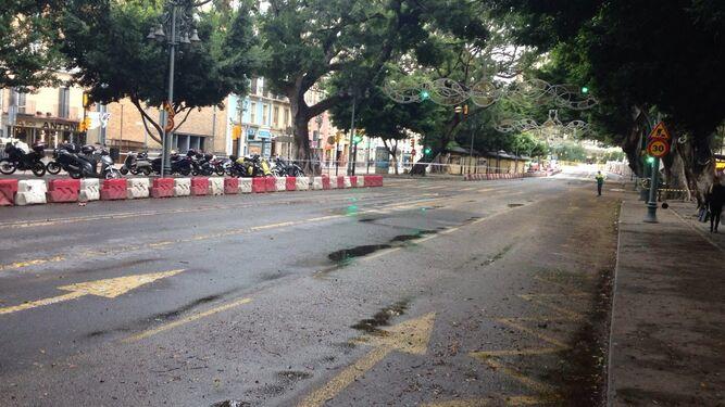 La Alameda Principal, cortada al tráfico.