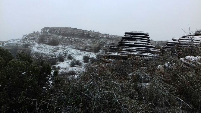 Nevada en El Torcal y la Sierra de las Nieves