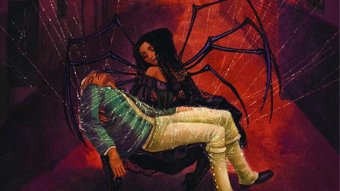 Benjamin Lacombe dota de vida a una Carmen que teje las redes de su aciago destino y atrapa en ellas a todo el que seduce.