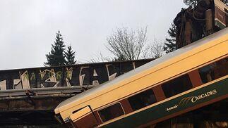 Las imágenes del tren siniestrado en Washington