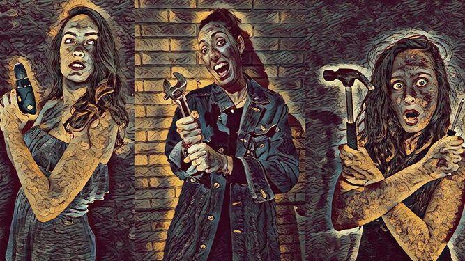 1. Pablo Fortes en 'Los fusiles de la señora Carrar', de La Imprudente. 2. Alessandra García en la piel de su 'Chaquetera'. 3. Una imagen promocional de la segunda entrega de 'Desmontando musicales' que presenta el Nuevo Teatro Musical. 4. Una escena de '¿A quién te llevarías a una isla desierta'?