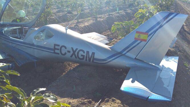 Nuevo accidente de avioneta en la Axarquía, aunque sin heridos graves