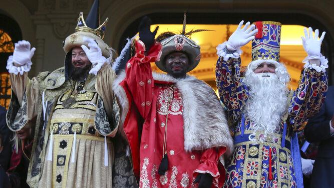 Los tres Reyes Magos.
