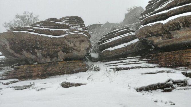 El Torcal, nevado