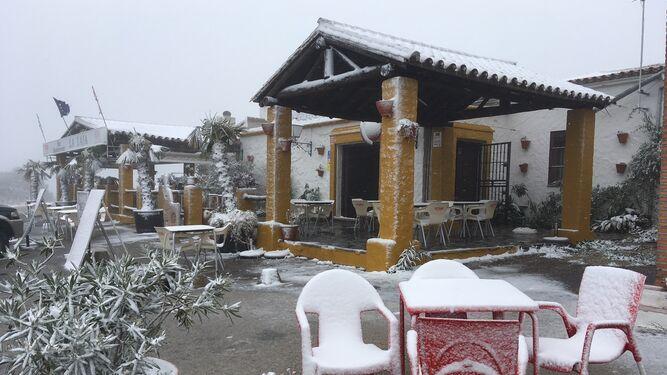 Copos de nieve en la venta La Laja