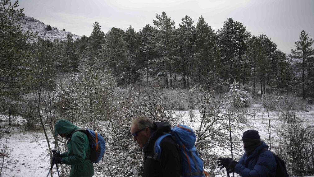 La excursiones a los parajes nevados de Málaga, en imágenes