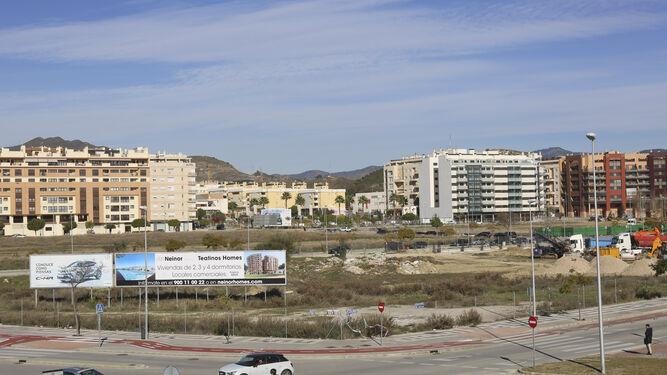 Una de las parcelas del Bulevar Louis Pasteur sobre la que se proyecta una promoción de 110 viviendas ya autorizada por Urbanismo.