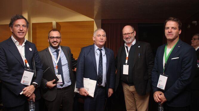 Los ponentes Alberto Matesanz, Pablo López, Markus Badde, Bernhard Roters y Florian Schaefer.
