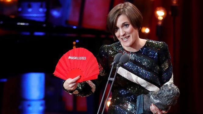 Adelfa Calvo, ayer, a su llegada a la gala de los Premios Goya.