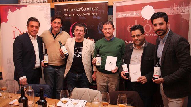 Juan Antonio Lara, César Velázquez, Raúl Villabrille, Juan José Sánchez Vidal, Antonio Fernández y Joaquín García.