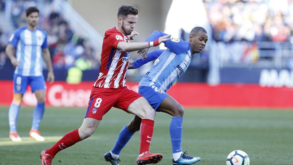 El Málaga CF-Atlético de Madrid, en imágenes