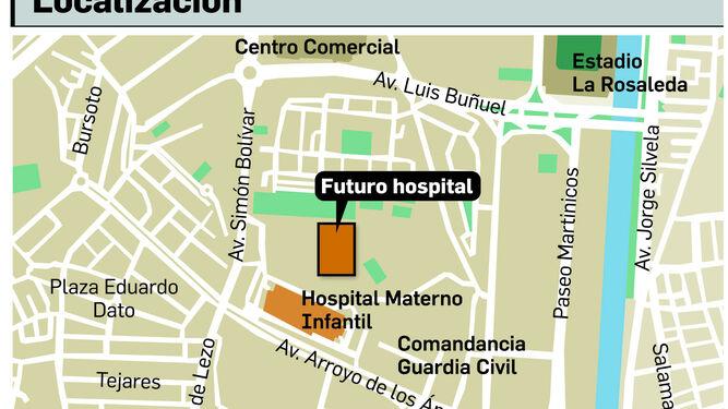 Salud anuncia un hospital de 230 millones que hará en unos seis años