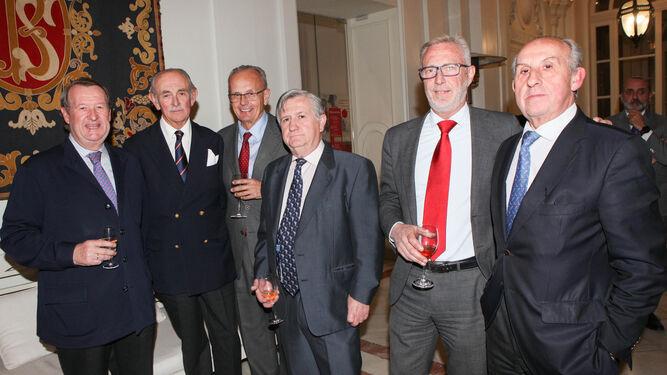 Juan Luis Aguado, Felipe Morenés, Jordi Raventós, Carlos Molina, Alfredo Montilla y Javier Aguado.