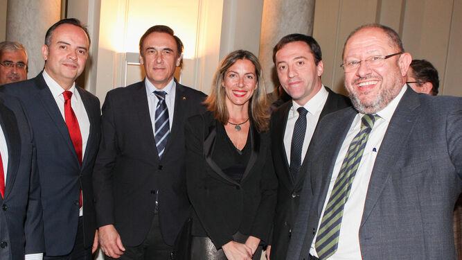 Francisco Ríos, José Carlos Gómez, Lola Blanco, Ricardo Domínguez y Manuel Torralbo.