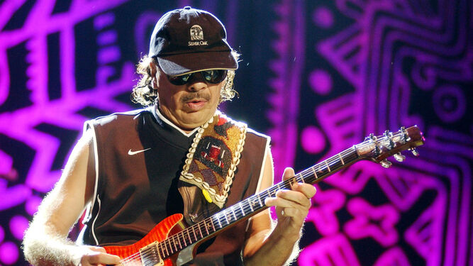 El guitarrista Carlos Santana, todo un clásico que llegará a Fuengirola el 9 de agosto.