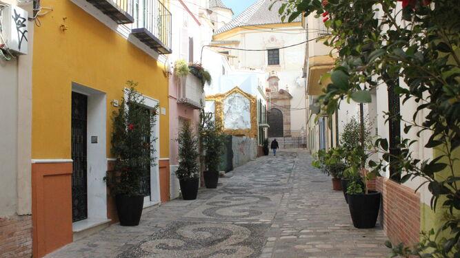 Calle Cabello, lugar donde se celebrará el taller de nazarenos de vidrio.