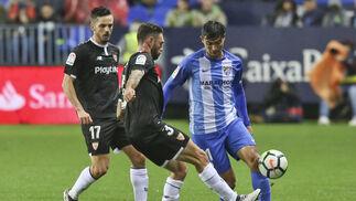 Las imágenes del Málaga-Sevilla