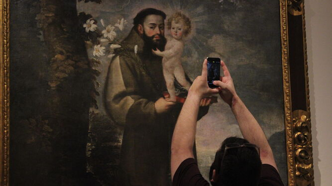 Pintura de San Antonio de Padua, de Ramírez de la Fuente.