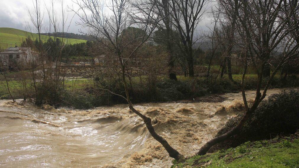 Temporal de viento y lluvia en la provincia