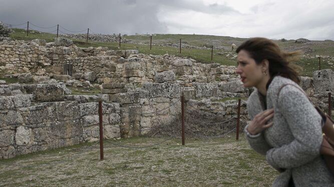 Imagen de una de las pocas ruinas que pueden verse.