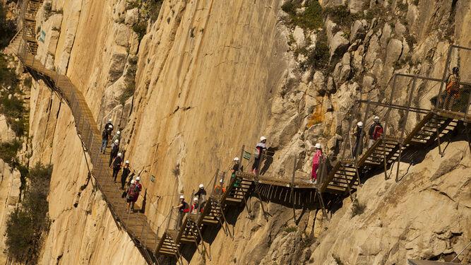 Vista de la pasarela del Caminito del Rey.