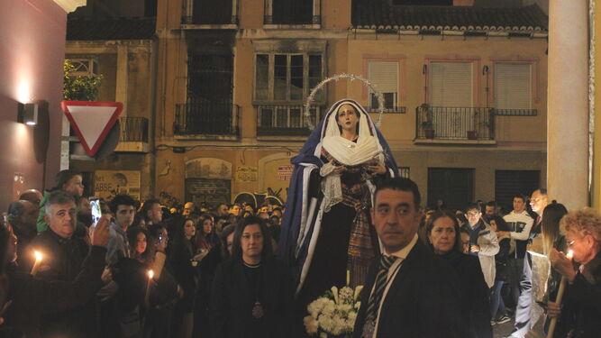 La Virgen de Gracia, por calle Agua.