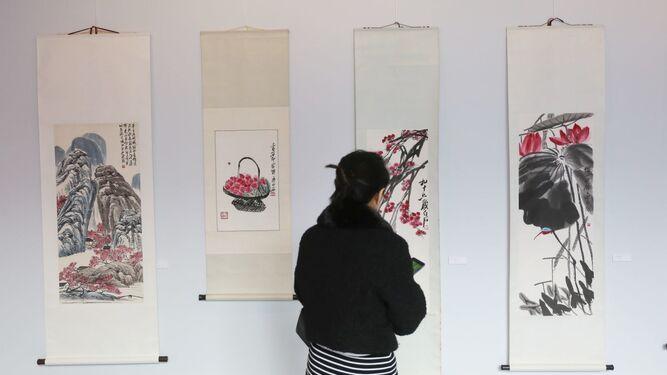 Exposición de Qi Baishi en el Museum Jorge Rando.