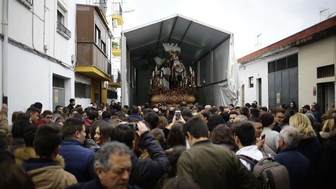 El Prendimiento quedó expuesto para los cientos de visitantes y fieles.