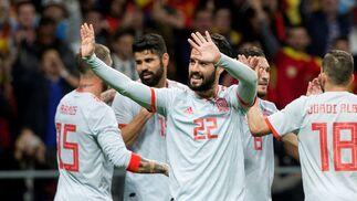 El amistoso España-Argentina, en imágenes