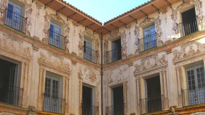 Patio del instituto Vicente Espinel, de Málaga capital.