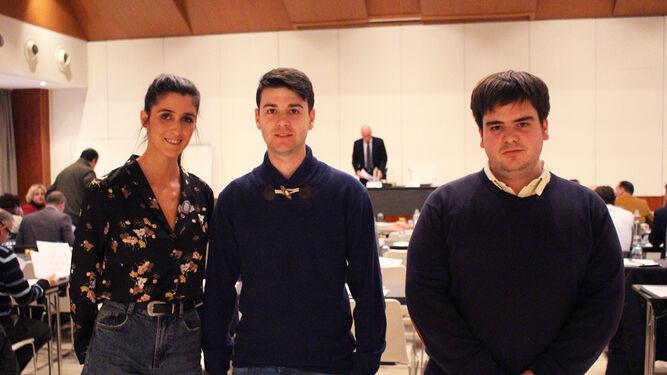Elisa Cristina, Carlos Pérez y Alejandro Pérez.