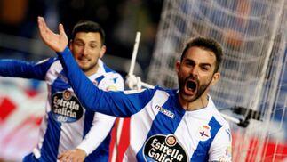 Las imágenes del Deportivo-Málaga