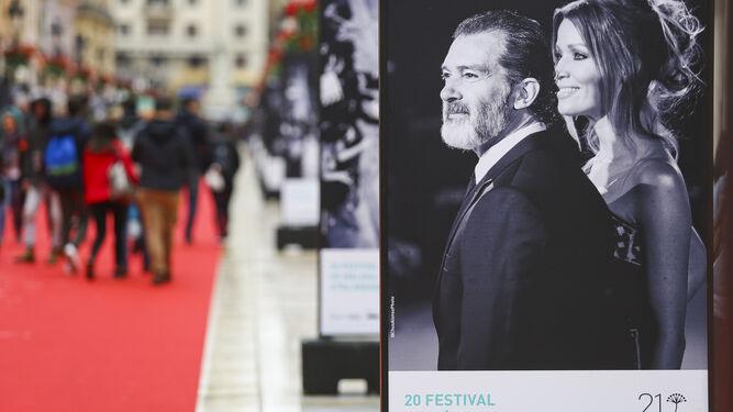 El actor Antonio Banderas en una de las fotografías de la exposición.