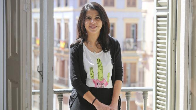Violeta Aragón posa momentos antes de esta entrevista.