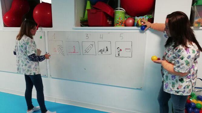 Las actividades se organizan mediante dibujos.