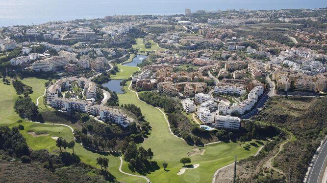 Vista aérea de Marbella.