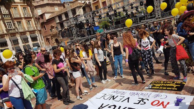 La protesta partió de la plaza de la Constitución.