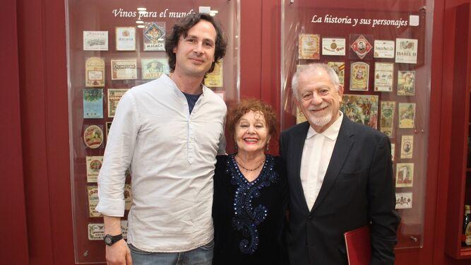 Álvaro Galán Castro, Inés María Guzmán y Pepe Infante.