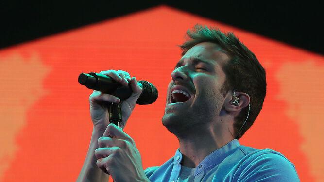El cantante interpreta uno de sus temas durante el concierto del pasado 20 de abril en Chile.